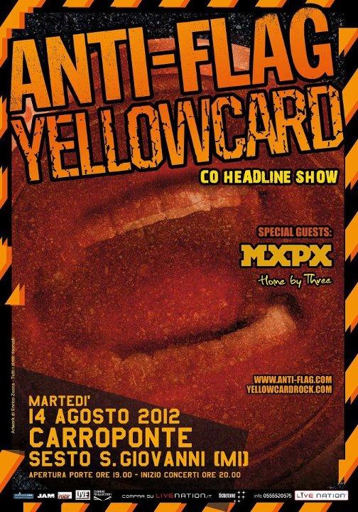 Yellowcard/Anti-Flag a Carroponte: orari dello show!