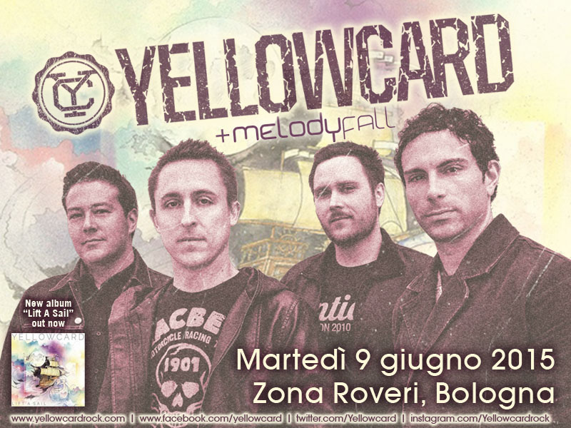 Yellowcard a Bologna: aprono i Melody Fall!