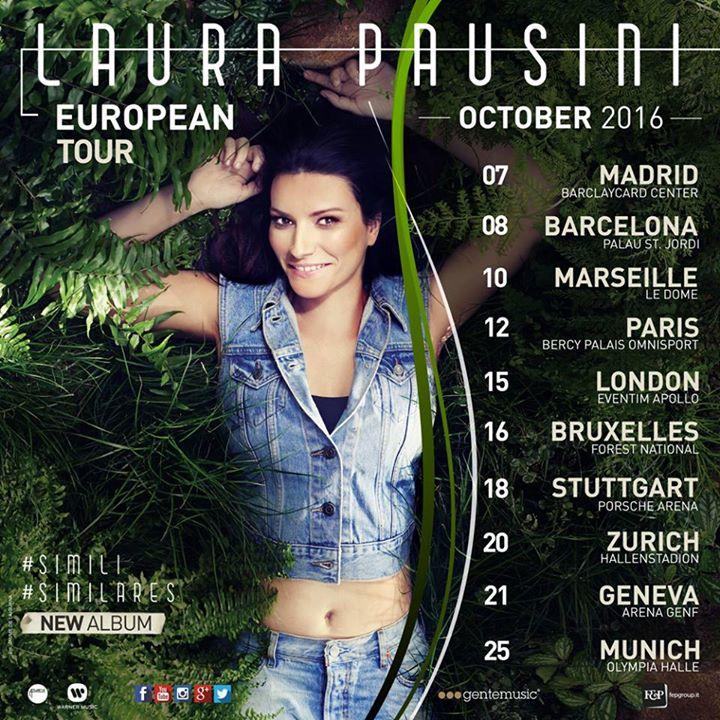 Laura Pausini: ecco il Simili European Tour!