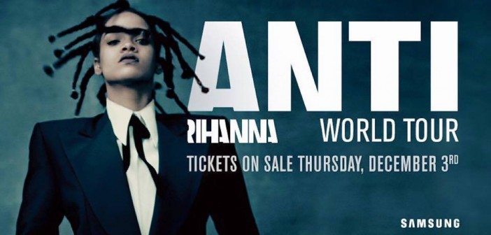 Rihanna: l'ANTI World Tour sbarca in Italia!