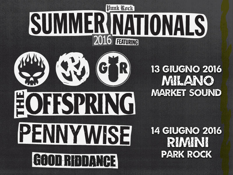 The Offspring in italia insieme a Pennywise e Good Riddance!