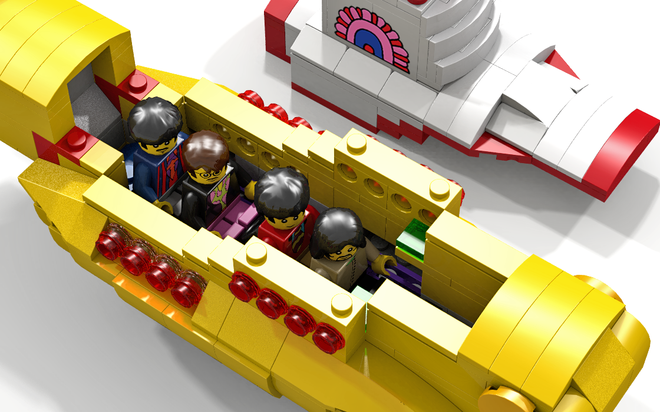 Lego dedica un set a Yellow Submarine dei Beatles!