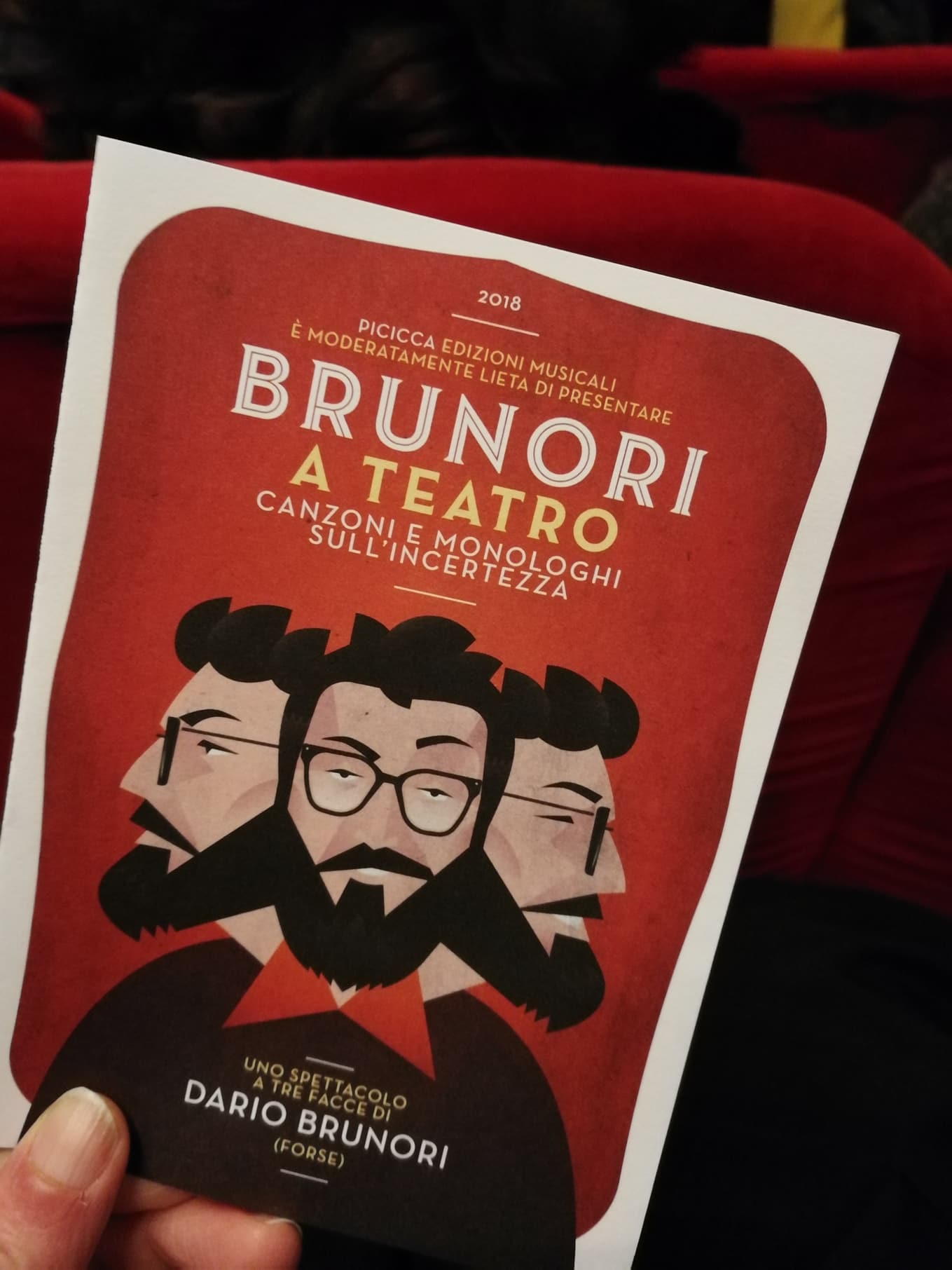 BRUNORI SAS – Canzoni e monologhi sull'incertezza