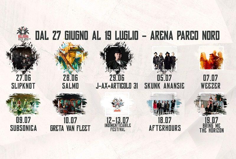 Bologna Sonic Park, concerti imperdibili: Slipknot, Bring The Horizon, Greta Van Fleet e molti altri