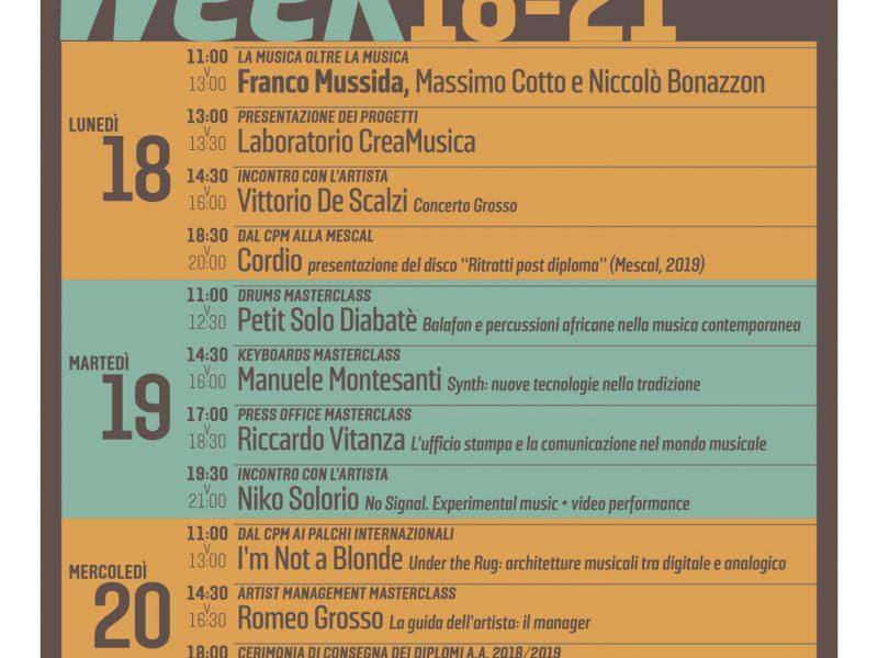 Open Week: dal 18 al 21 novembre in occasione della Milano Music Week
