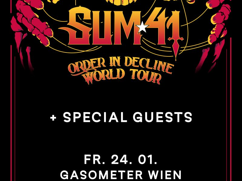 Sum 41 will be back in Wien: tickets and infos