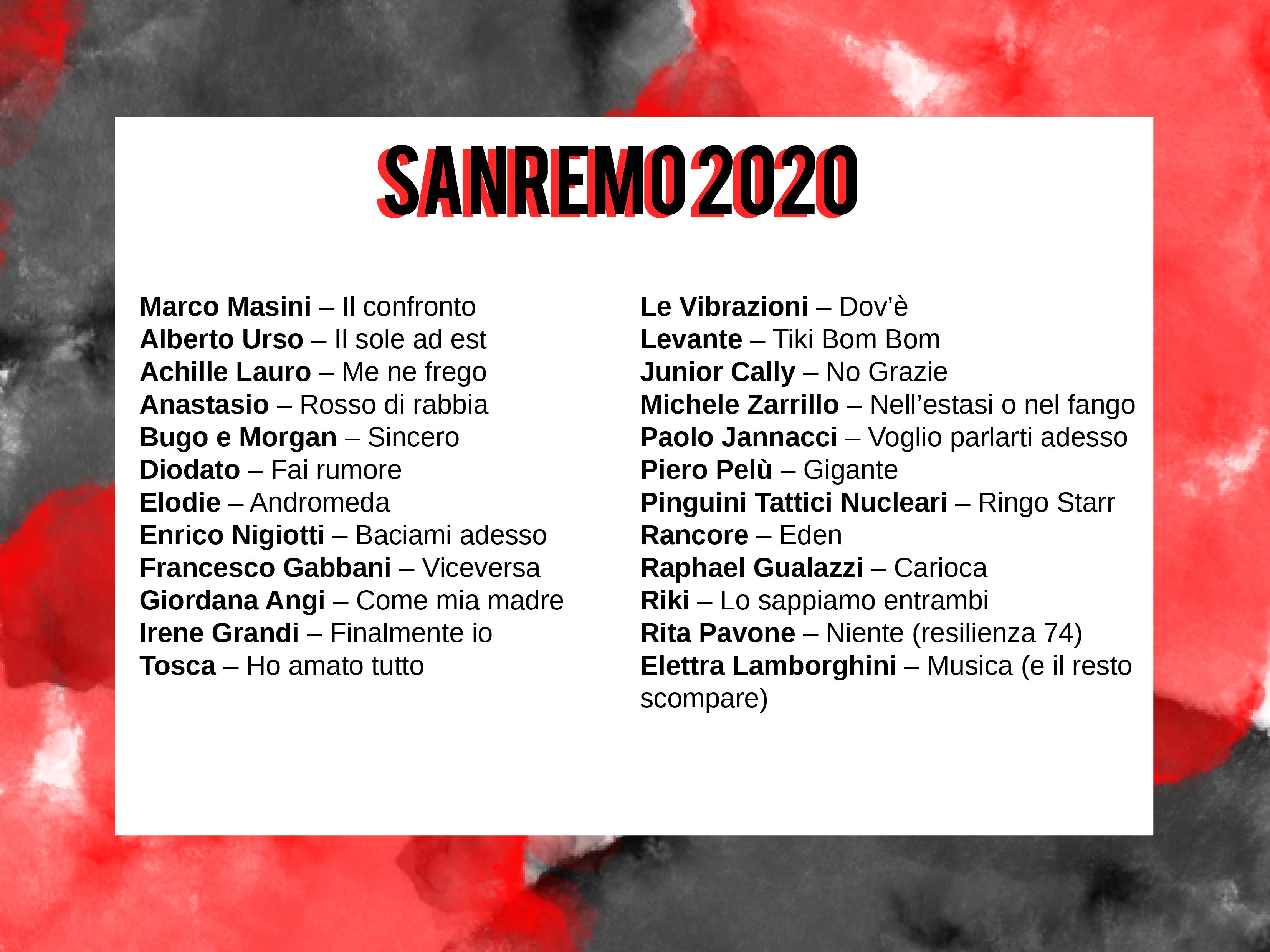 Festival di Sanremo - Cantanti
