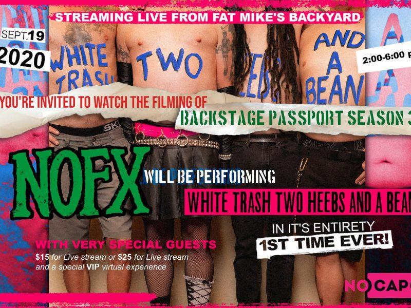 NOFX live il 19 settembre 2020… in streaming!