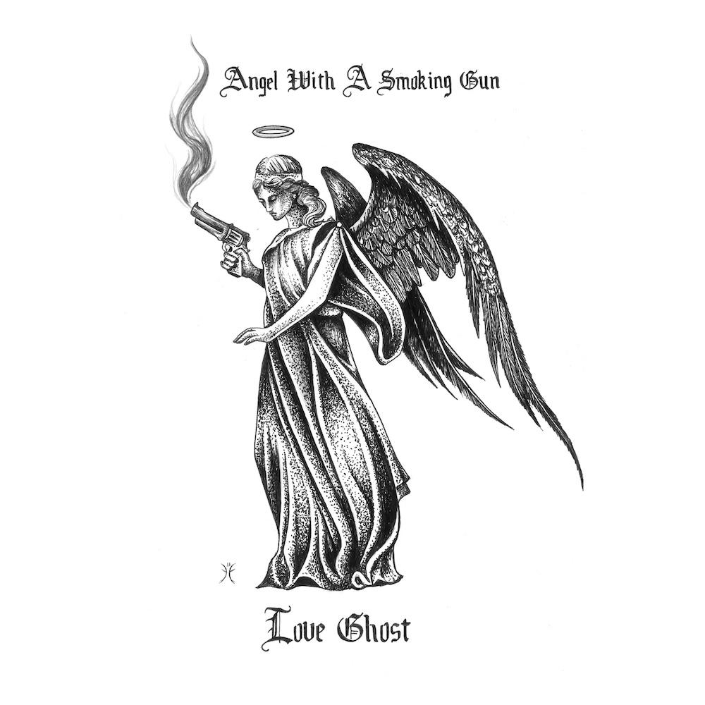 love ghost angel with a smoking gun