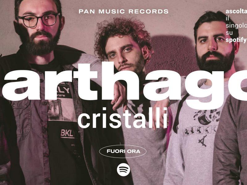 """Carthago, fuori il nuovo singolo """"Cristalli"""": un brano pieno di energia"""
