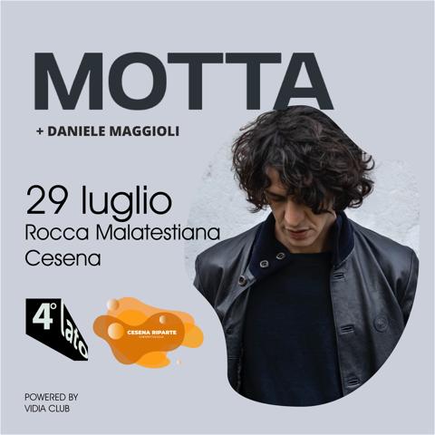 Motta torna alla Rocca Malatestiana di Cesena il 29 luglio